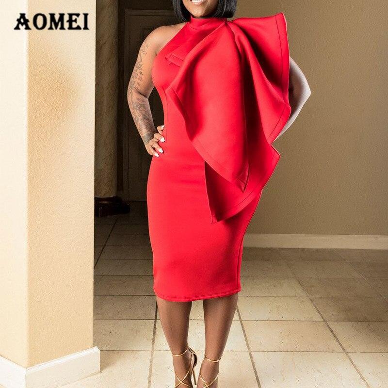 34c6581cbacc Women Bodycon Midi Backless Dress Red Sleeveless Ruffled Sexy Party Midi  Cloak Tight Club Wear Robe Femme Summer Fashion 2018