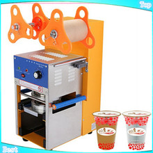 free shipping Automatic Cup sealing machine,Bubble tea cup sealer,Boba machine,plastic cup sealer,boba cup sealer machine(China)