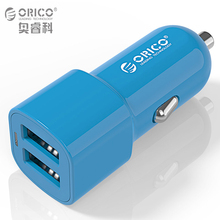 ORICO 3.4A Dual Port USB Car Charger Mini Universal Smart Car-Charger for Smart Phone Apple iPhone 7 LG Samsung with Free Cable(China)