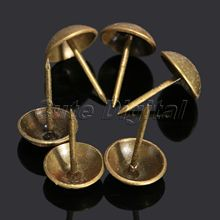 100pcs 13x17mm Iron tacha Upholstery Nail Antique Bronze Jewelry Box Sofa Decorative Tack Stud Pushpin Decorative Furniture Nail