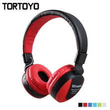 Buy TORTOYO Stereo Music Sports Bluetooth Headphone Heavy Bass Wireless Headset Mic TF Card FM Radio 3.5mm Aux iPhone Phone for $18.85 in AliExpress store