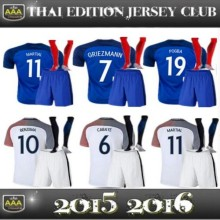 Hot sales EUR 2017 French best Quality adult Short sleeves Shirts 16 17 Man Home Away France kit+socks free shipping