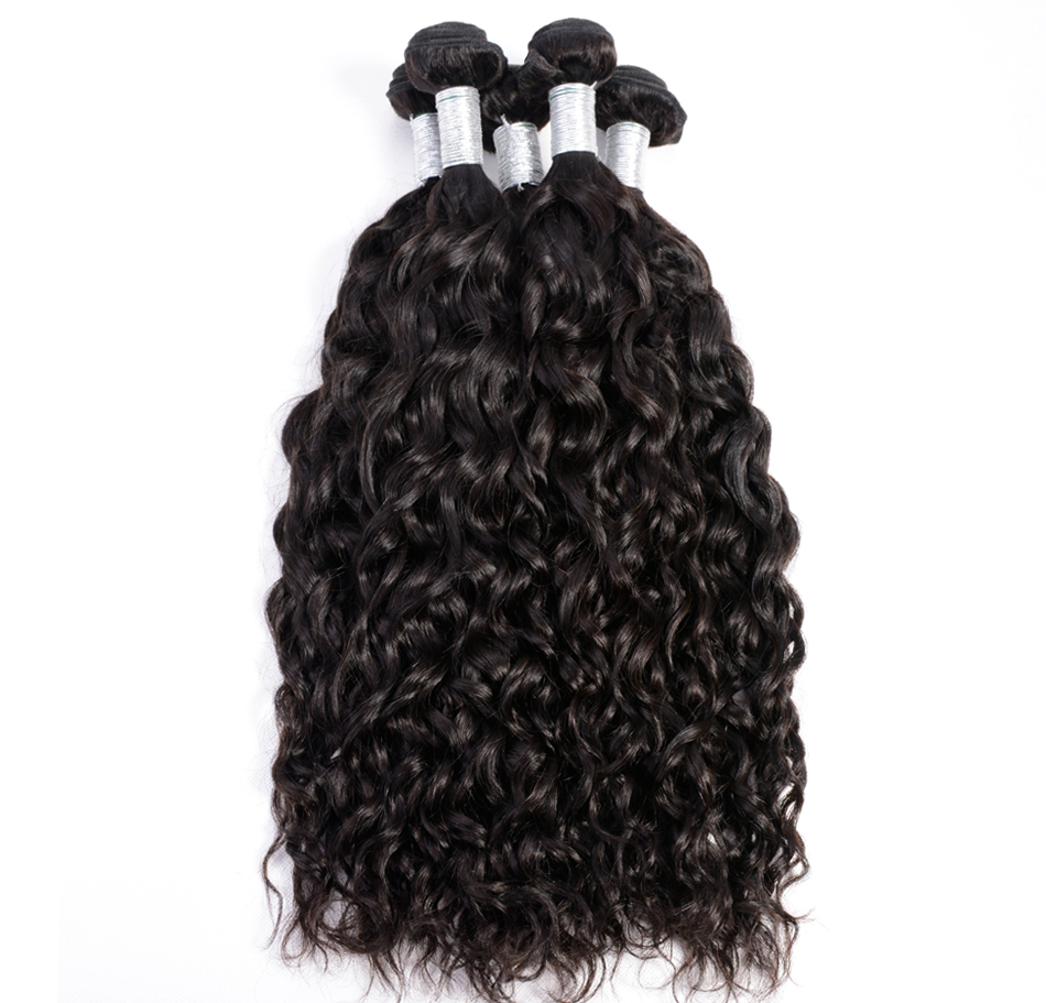 Iwish Brazilian Water Wave Hair Bundles 100% Human Hair Extension 1pc/lot Natural Black Color Remy Hair 10-28 inch Free Shipping