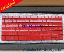 Original New Laptop keyboard Glossy Red US version For HP Mini 1100 Mini 1000 1131tu 1132tu 1119tu Laptop