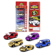 Hot New 5PCS High Quality Super Car Toy Alloy Wheels Car Educational Dinky Toy Cheap Toy Cheap Children Model Collection Gift
