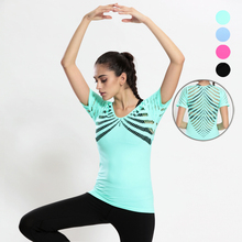 Hollow out women breathable mesh t shirt high elastic short sleeve t-shirt womens fitness tee tops clothing camiseta feminina