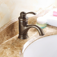 Free shipping 2015 new design classic bathroom basin faucets water taps black bronze antique lavatory faucets for bathroom,G9830