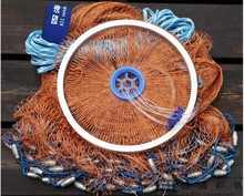 Diameter 2.4-4.2m Nylon Line Fishing Net Network Lead Sinkers Easy To Throw Large Fish Trap Float Nasse A Poisson