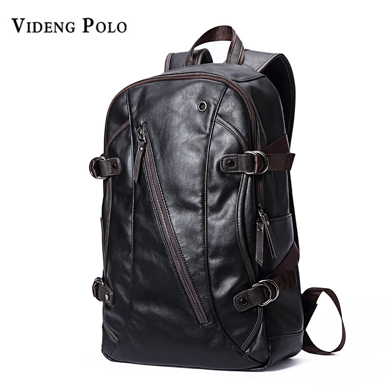 VIDENG POLO Fashion Casual Brand Leather Mens Travel Backpacks Cool Multifunctional Laptop Backpacks Mens Backpack Bag Male Bag<br>