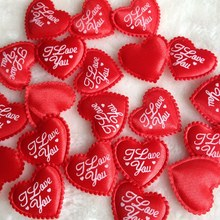 Buy HL Hot sale 100pcs Red padded love heart DIY sewing appliques wedding decorations 35MM A138 for $4.19 in AliExpress store