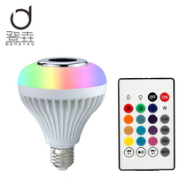[Dengyao] Wireless Bluetooth Speaker +12W RGB Bulb E27 LED Lamp 100-240V Smart Led Light Music Player Audio with Remote Control