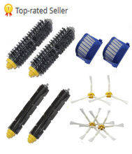 Golden Seller Top Quality 2 Bristle & Flexible Beater &4 Armed Brush & 2 Aero Vac Filter For iRobot Roomba 600 620 630 650 660