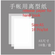Release paper for hand book/140 g of release liner/A5 size/ one pack of 10 sheets, self-adhesive labels(China)