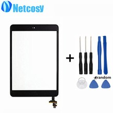Touchscreen For ipad mini 1/2 Touch Glass Screen Digitizer Home Button Assembly repair For ipad mini 1/2 touch panel & Tools