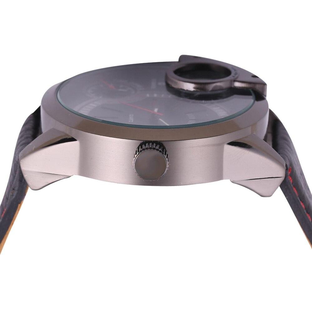 top luxury brand shiweibao three time zones watches for men analog quartz men watch black strap big case wristwatches clock man free shipping wholesale (6)