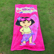 75*150cm Cartoon DORA THE EXPLORER Towels baby bath towel Children Beach Bath Towel Cartoon Princess Girls Bikini Covers(China)
