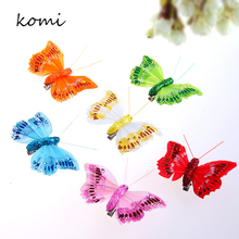 2016 New Fashion Colorful Women's Butterfly Hair Clip Six Colors Girls Feather Hairpins 6 PCS  H-001
