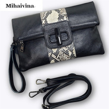 2017 Luxury Evening Bag Fashion Women's Synthetic Leather Bags Day Clutches Purse Handbag Snake Skin Envelope Shoulder Bag. - Mihaivina Store store
