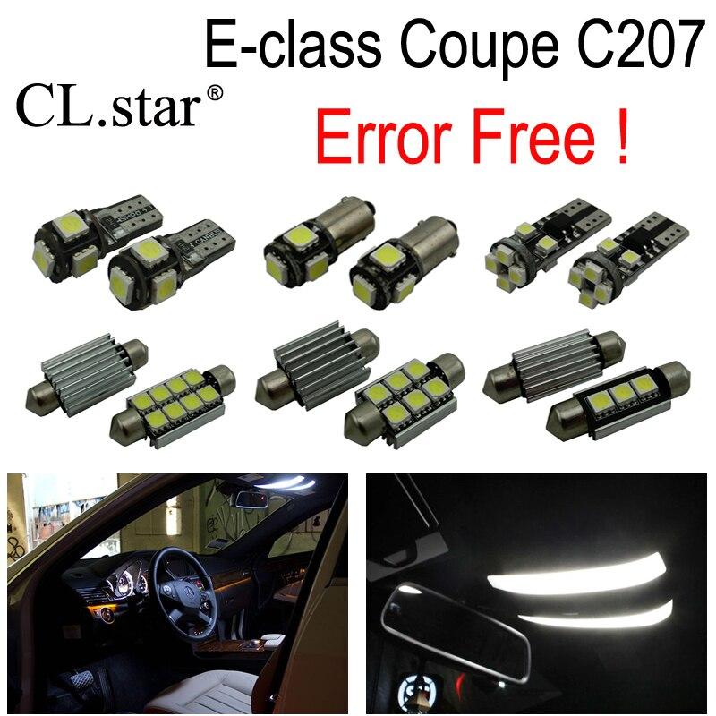 15pcs LED bulb interior dome light Kit For Mercedes E class Coupe C207 E200 E220 E250 E260 E300 E320 E350 E400 E500 E550 (09-16)<br>