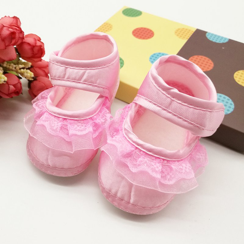 Baby Girls First Walkers Hook Type Lace Female Baby Princess Shoes Toddler Shoes Autumn/Spring Wholesale Retail<br><br>Aliexpress