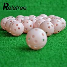 Relefree Hollow Plastic Indoor Sports Trainer Golf Swing Practice Training Ball(China)
