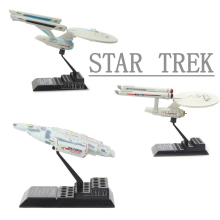 HHIHHA 3pcs/set Star Trek Beyond Enterprise spaceship Star Wars Black Series Boba Captain Action Figure Model Toys Kids  10CM