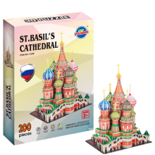 Educational toys Youle Fort 3D three-dimensional jigsaw puzzle of Saint Basil's Cathedral direct manufacturers(China)