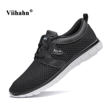 Viihahn Mens Running Shoes Spring Summer Training Sneakers Breathable Mesh Lace Up Outdoor Athletic Sport Shoes Plus Size 47