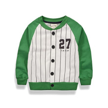 new arrival 2017 kids wear children clothes long sleeve striped with cartoon baseball jacket causal style baby boys coat hot
