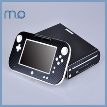 Carbon Fiber Vinyl Cover Decal Skin Sticker for Nintendo Wii U Console & Controller Skins