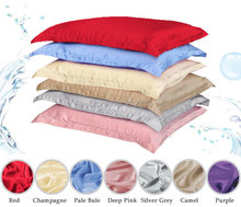 100% pure silk pillowcase oxford pillow case pillow sham free shipping standard queen king size dyed many colors(China)