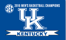 Kentucky UK Wildcats SEC Mens Basketball Champs Flag 3x5ft with gromments