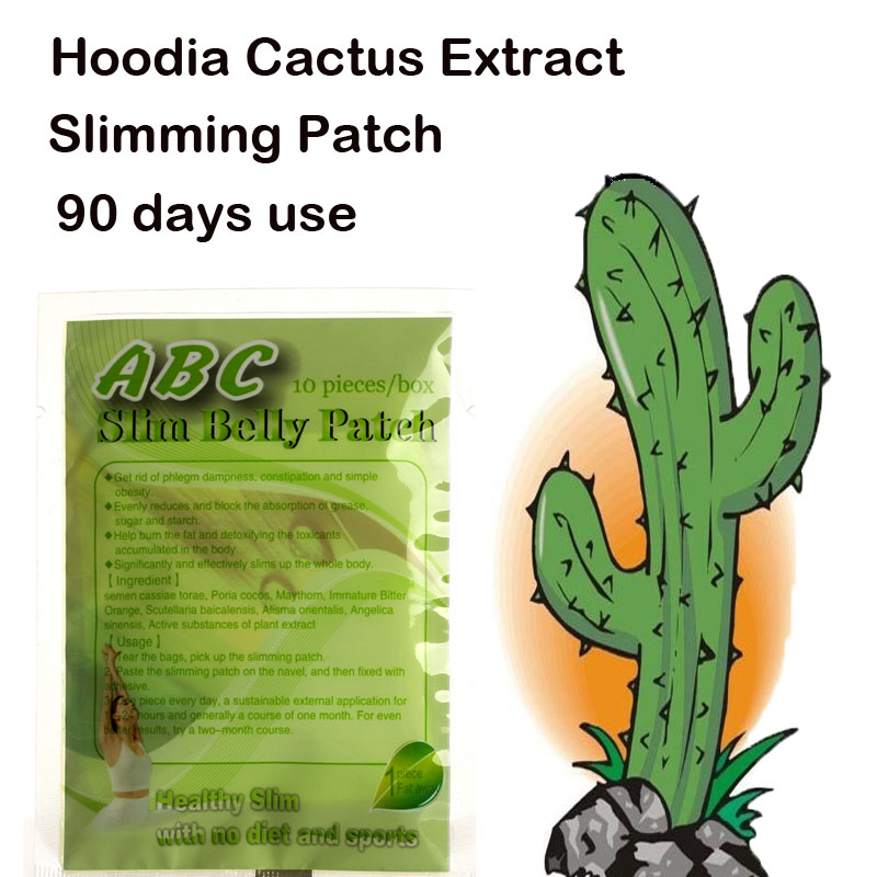 (90 days use) Pure Hoodia Cactus extracts slimming belly patch diet pad lose weight fast for men &amp; women<br>