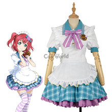 LoveLive!Sunshine!! Kurosawa Ruby Valentine's day Maid Apron Dress Uniform Outfit Anime Cosplay Costumes