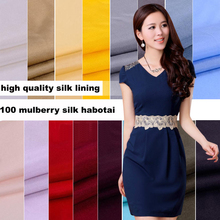 By Meter 23 Colors Silk Habotai Material Textile Pure Silk Linings Plain Dyed Habutai Fabric Tissue