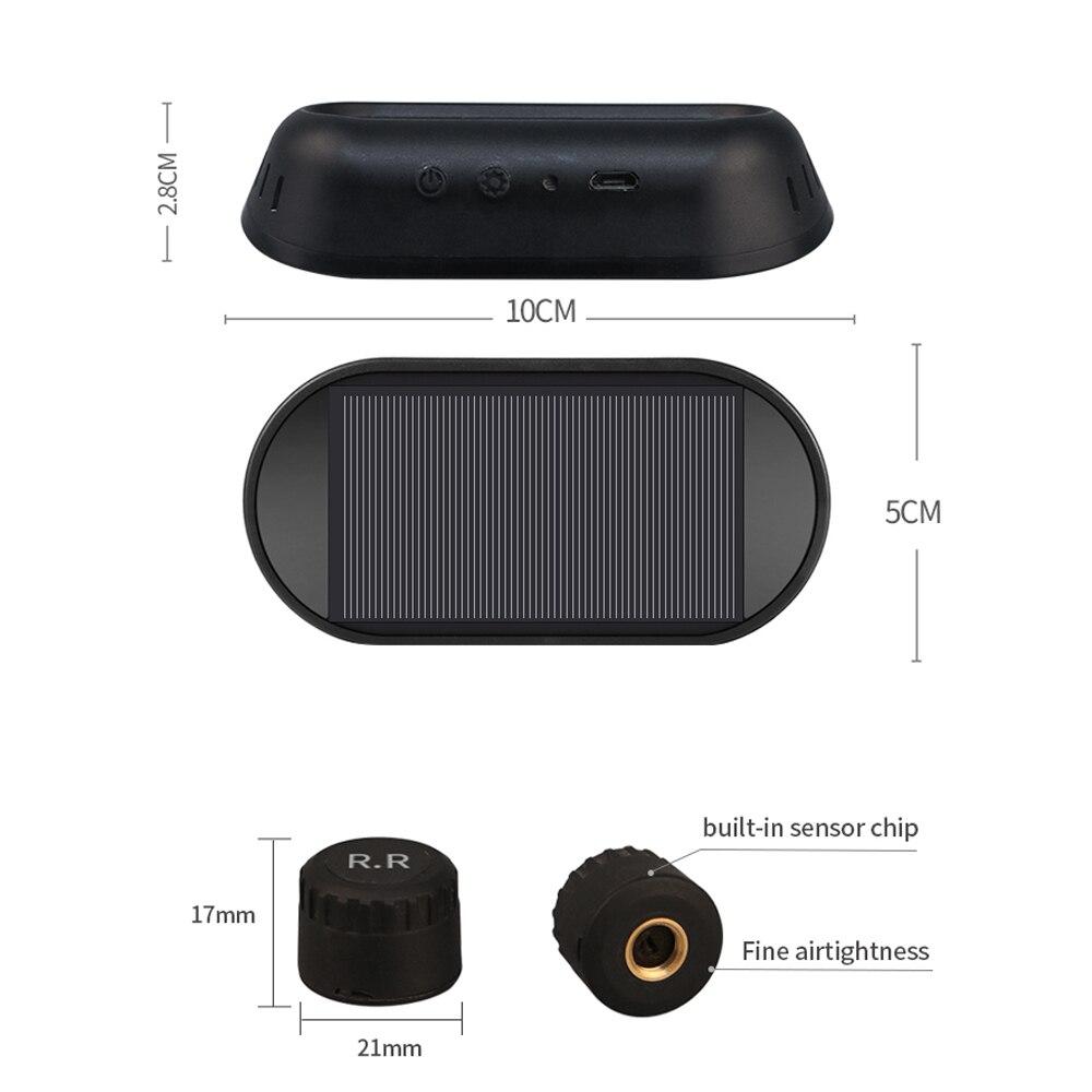 Vantrue Smart Car TPMS tire pressure monitoring system Solar Power Charging Digital LCD Display Auto Security Alarm Systems with 4 External Sensor (9)