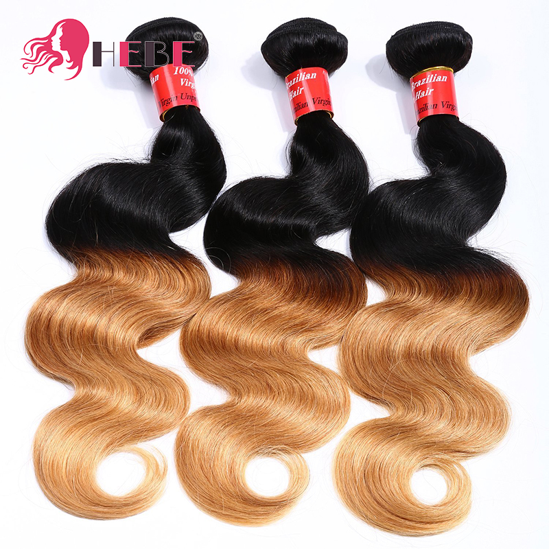 8A Ombre Human Hair Body Wave 3 Bundles 1B/27 Two tone color Ombre Indian Body Wave Human Hair Weaves Ombre hair extension<br><br>Aliexpress