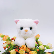 20CM Small White Cat Plush Toys Stuffed Simulation Animals Kawaii Kitten Puffy Neko Soft Kids Toys for Children Gifts Car Decor