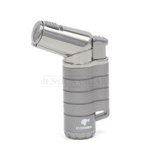 COHIBA Gun Pattern Jet 3 Flame Torch Cigar Cigarette Lighter Refillable Gas Lighters Smoking Fire(China)