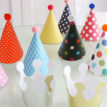 11pcs/set Party Celebration Korean Cute Party Hats Birthday Hat Festive Party Photograph Items Birthday Party Decorations Kids(China)