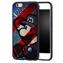 Cartoon Popular SUPER Printed Soft Rubber Skin  Mobile Phone Cases OEM For iPhone 6 6S Plus SE 5 5S 5C 4 4S Back Shell Cover