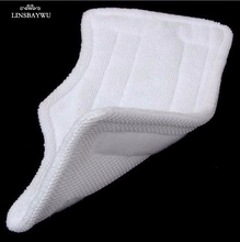 LINSBAYWU 1 PCS 28x16cm Replacement Pads For Shark Steam Mop Microfiber Machine Washable Cloths White Color(China)