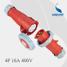 4P 16A 400V Combination International Standard Industrial Plug & Connecter / IP67 Waterproof(China)