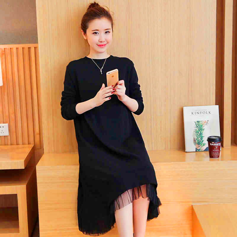 Pregnancy Long Sleeve Dress Elegant Maternity Dress Premama Pregnant Clothing Maternity Wear Lace Gown Tunic 502176<br><br>Aliexpress