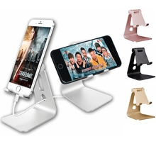 MuTouNiao Cell Phone Stand Universal Aluminum Dock Cradle Holder Stand Switch For Android For iPhone X 6 6s 7 8 Plus 5 5s 5c(China)