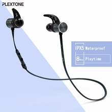Plextone BX343 Wireless Headphone Bluetooth IPX5 Waterproof Earbuds Magnetic Headset Earphones With Microphone For Phone Sport(China)