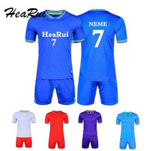 Hearui Customize 2017/2018 Men's Professional Football Uniform Sets  New Season Team Soccer Jersey Youth Training Suit