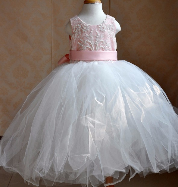Baby Girl Party Tutu Dress Mint Green with Pink Rose Girl Flower Dress Birthday Wedding Tutu Dress For Baby Girl<br>