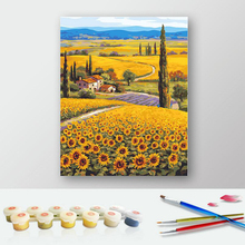 50x65cm Sunflower Vintage Painting Diy Digital Painting By Numbers Acrylic Picture Canvas Wall Art Home Decor For Unique r362
