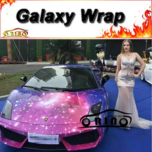 Car Styling Galaxy Car Wrap Sticker Film Printed Vinyl Full Car Body Covering Wrapping Auto Graphic Skin Glossy Finish